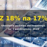 Obniżka podatku dochodowego z 18% na 17%